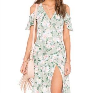 Privacy Please   Acme Floral Maxi Wrap Dress   L